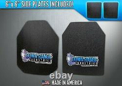 Ar500 Level 3 III Body Armor Plates Incurvées 10x12 Avec 6x6 Side Plates Swim/sapi
