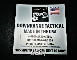 Ar500 Niveau 3+ Corps Plaques Armure (2) 10x12, Avant / Arrière Plaques Livraison Rapide