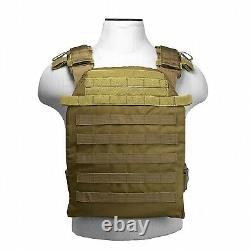 Ar500 Niveau 3 III Plaques D'armure Du Corps- 10x12 Avec Porte-veste De Molle