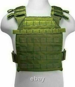 Ar500 Niveau 3 III Plaques D'armure Du Corps- 10x12 Avec Porte-vestige Molle & Mag Pouch