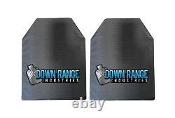 Ar500 Niveau 3 III Plaques D'armure Du Corps Paire Courbé 10x12 Avec Des Tampons Trauma