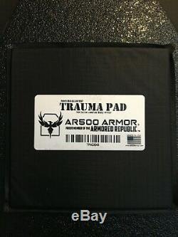 Ar500 Niveau 3+ Lightweight Plaques Armure Set Avec Trauma Pads & Plaques Latérales