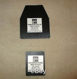 Ar500 Niveau 3+ Plaques Armure En Acier (2) 10x12 Et (2) 8x6 Plates-très Rapide Expédition