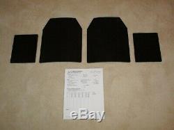 Ar500 Niveau 3 Plaques Armure En Acier (2) 10x12 Et (2) 8x6 Plates-très Rapide Livraison