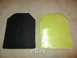 Ar500 Niveau 3+ Plaques Armure En Acier (2) 10x12 Et (2) Plaques 8x6 & Spall / Pads Aramides