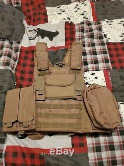 Ar500 Niveau III Body Armor Avec Plate Carrier Tan