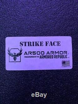 Ar500 Niveau III + Léger Body Armor Avec Coussinets Trauma 10x12 Asc Droitière