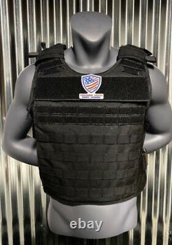 Ar500 Plate Carrier Black 10x14 Gilet Pare-balles Body Armor Niveau III