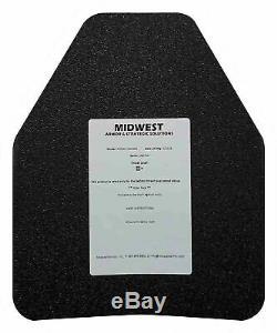 Armoire En Acier Ar500 Mid-west Armor, 10x12, Niveau Iii, Support De Plaques Lisses, Noir
