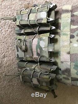Armure Cati Ar500 Revêtement De Base Des Plaques D'acier De Niveau III 8x10 Paire Avec Coussinets Trauma