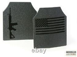 Armure De Corps Ar500 Classe 3 Plaque Unique / Graphiques Et Des Mises À Niveau De Revêtement De Scellement Complet