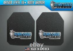 Armure De Corps Ar600 Niveau 3+ Ensemble De Plaques Courbées 10x12 Sapi/sapi