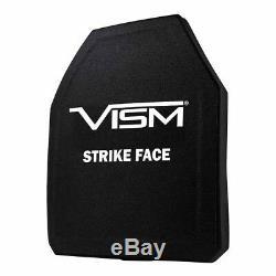 Armure De Protection Corporelle Coupée Pour Tireur De Plaques Balistique Composite Vism 10x12 En Céramique / Pe, LV 4