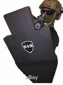 Ballistic Shield Gilet Pare-balles Anti-balles Niveau III ++ L3 ++ 12x23 Arrêts 30-06
