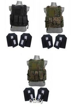 Bearcat Gilet De Protection Corporelle De Niveau 4 + III / Ar500 Tactical Scorpion Gear