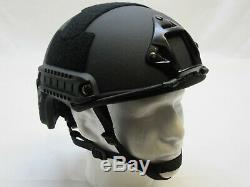 Black Fast Casque W. Rails Made Grand Kevlar Haut Niveau III Coupe Balles-a