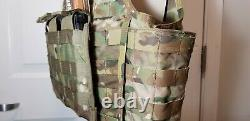 Blackhawk S. T. R. I. K. E Cut Away Tactical Multicam/level 3 Ar500 Plaques