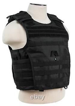 Body Armor Ar500 Plaques En Acier Base Revêtement Bullet Proof Vest Blk M-xxl 10x12s