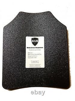 Body Armor Ar500 Plaques En Acier Base Revêtement Bullet Proof Vest Tan M-xxl 10x12s