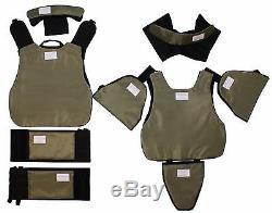 Body Armor Plate Carrier Molle Gilet Tactique Iii-a Imperméable Kevlar Inclus