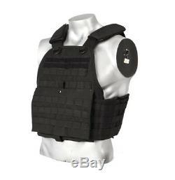 Body Armour Gilet Pare-balles Anti-balles Ar500, Couche De Base En Acier, 10x12 6x6 - Noir