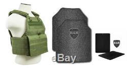 Body Armour Gilet Pare-balles Anti-balles Ar500, Couche De Base En Acier, 10x12, 6x8 Od, Vert