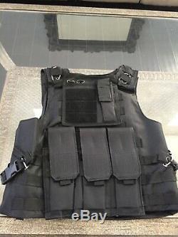 Bulletproof Kevlar Ar500 Gilet Porteur Plaques Inserts Armure De Corps Tactique Panneaux