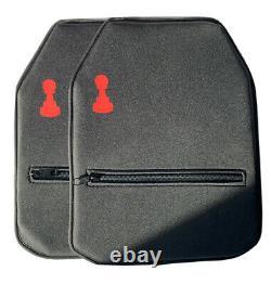 Bulletproof Plates Pawn Armor 10 X 12 Pouces Lumière Douce Uhmwpe 3a III A (paire)