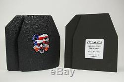 Cati Ar500 Corps Plaques D'acier Couche De Base Armure Niveau III 10x12 Pair Swim / Sapi Evo