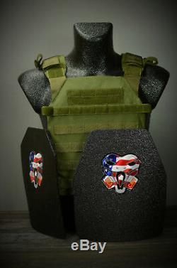 Cati Ar500 Plaques De Gilet Pare-balles Niveau 3 Active Shooter Sentry Adv. Sc Olive Drab