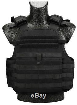 Cati Armour 4 Pc Ar600 Ar500 Gilet Pare-balles Mopc Noir 3 III True Niveau 3+