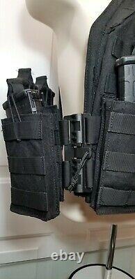Commandant Quick Release Tactical Carrier Black /level 3 Ar500 Plaques