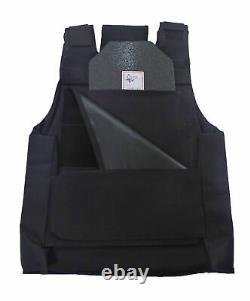 Complete Level III Ar500 Steel Body Armor Dual Pocket Lightweight Vest Build-up
