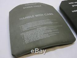 Corps Armor Inserts Niveau 3 Céramique Face Plaques De Grève Moyen 10x13 Avant Et Arrière