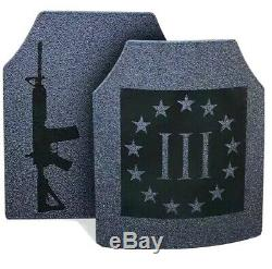 Corps Armure Ar500 3% Paire De 10x12 Plaques En Stock Expédition Immédiate
