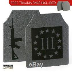 Corps Armure Plaques Ar500 Plein Anti Écaillage Mises À Niveau De 2 Jours Livraison Gratuite Pads Trauma