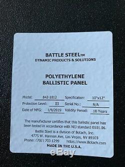 Deux (2) Bataille En Acier Niveau III 10x12 Plaques De Protection Balistique Bs1012iii +