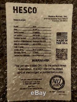 Deux (2) Hesco 3810 Plaques En Céramique Large Shooters Coupe Mieux Que Ar500 Et L210