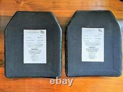 Ensemble De (2) Plaques D'armure Du Corps De Taille De Niveau III De Niveau Moyen 10x12