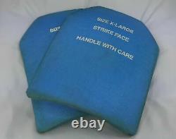 Ensemble De (2)xl Level 3+++ Strike Face Ceredyne Ceramic Body Armor Plates