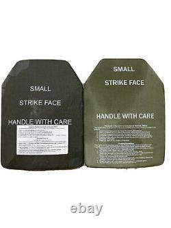 Ensemble De L'armée De (2) Niveau III Small Strike Face Body Armor Esapi Plaques