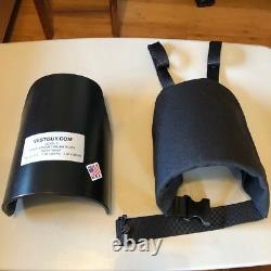 Épaules D'armure Ar500 Niveau LLL Fusil Grade Free Shipping USA Fait Noir