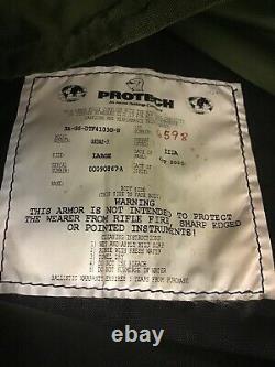 Gilet D'entrée Tactique Protech Avec Niveau III Strike Face Plate Taille Grand Q-4