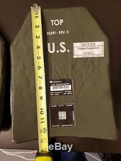 Grand Corps Pair 10x13 Armor Niveau De Plates Esapi