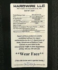 Hardwire 10x12 Shooters Cut Niveau 3+ Body Armor Sapi Ballistic Inserts
