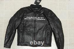 Harley Davidson Compétition Hommes III 3 Armure Veste En Cuir Noir M 98024-12vm