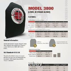Hesco 3800 2.1lb Niveau III Stand Seul 10 X 12 Shooter Coupe-nij Certifié