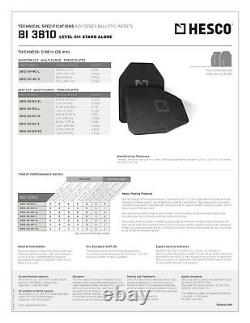 Hesco 3810 Niveau III + Ensemble De Plaque En Céramique (qté. 2 Plaques) Sapi Petit