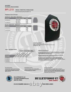 Hesco L210 10x12 Plaque De Menace Spéciale Bulletproof It, Marqué