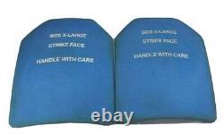 Jeu De (2) XL 11x14 XL Boron Carbure Monolithique Plaques D'armure En Céramique Niveau III